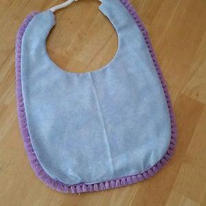 Handmade reversible baby bib!!